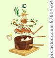 Korean summer food concept illustration 004 57614564