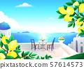 Beautiful nature landscape in summer season vector illustration 002 57614573