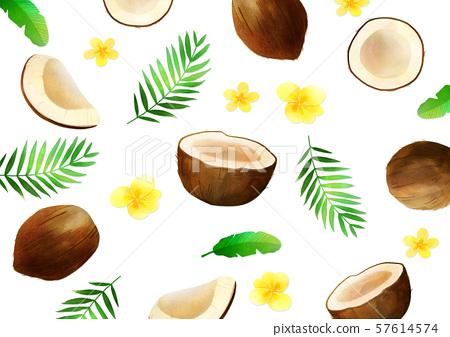Concept of summer pattern design illustration 034 57614574