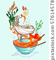Korean summer food concept illustration 003 57614578