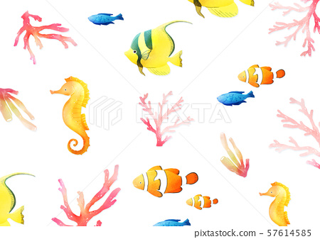 Concept of summer pattern design illustration 040 57614585