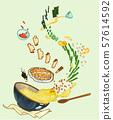 Korean summer food concept illustration 009 57614592