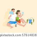 Suffering a heat wave in a hot summer day vector illustration 001 57614838