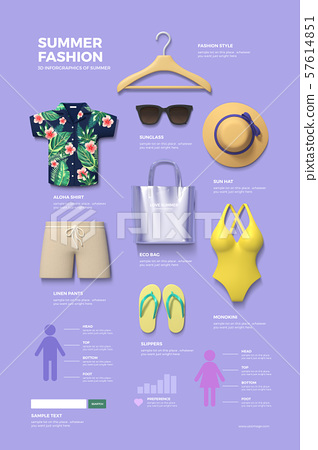 Summer infographic elements set 004 57614851