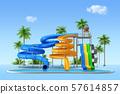 Aquapark 3d render graphic design 002 57614857