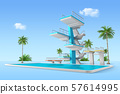 Aquapark 3d render graphic design 003 57614995