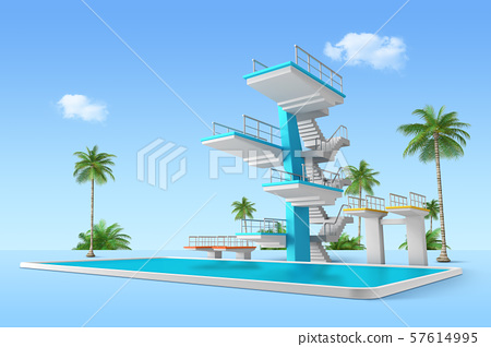 Aquapark 3d render graphic design 003 57614995