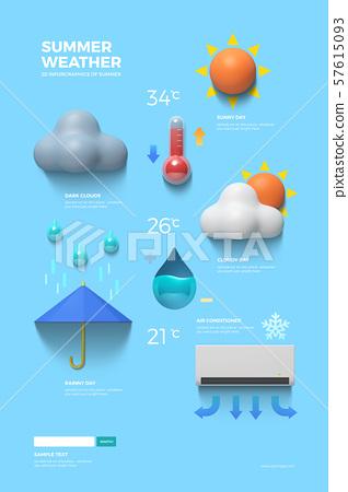 Summer infographic elements set 001 57615093