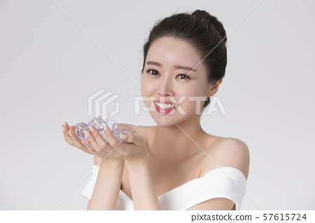 Portrait of Beautiful Young Woman 226 57615724
