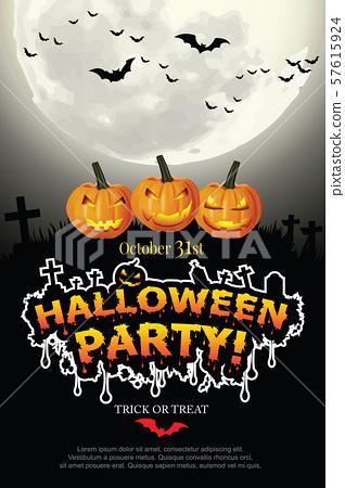 Halloween Invitation. Vector Eps 10 57615924