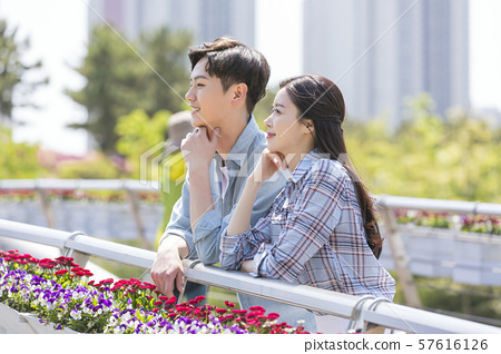 Attractive young couple in love 103 57616126