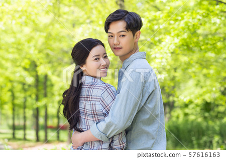 Attractive young couple in love 158 57616163