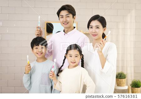 Happy and loving family 333 57616381