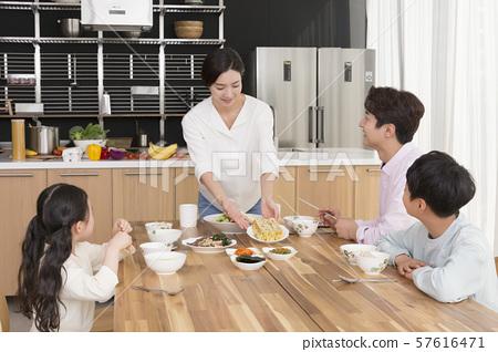 Happy and loving family 256 57616471