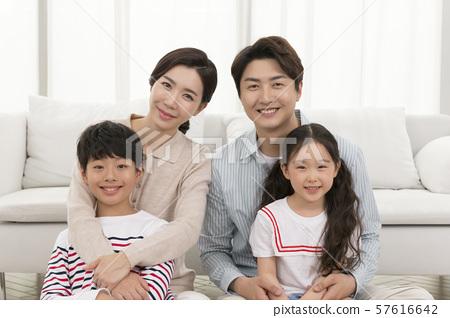 Happy and loving family 196 57616642