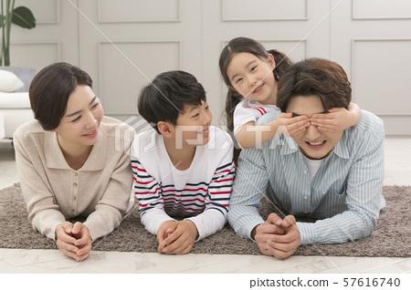 Happy and loving family 156 57616740