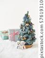 聖誕樹和雪人 57619310