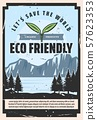 Eco friendly theme, save nature 57623353