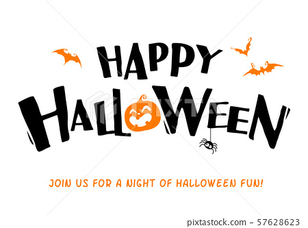 Happy Halloween. Vector lettering. Holiday calligraphy title. 57628623
