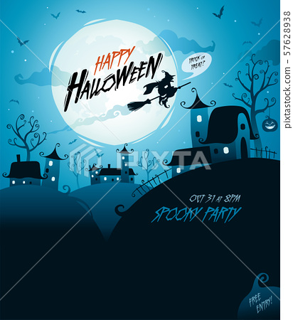 Halloween design with wide copy space. 57628938