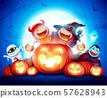 Halloween Celebration Fun Party.  57628943