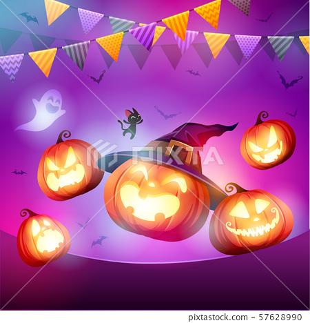 Halloween Celebration Fun Party.  57628990