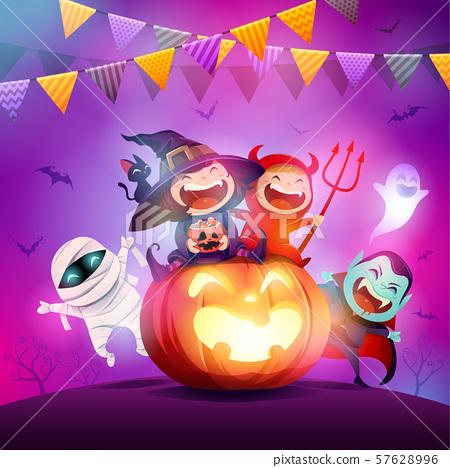 Halloween Celebration Fun Party. 57628996
