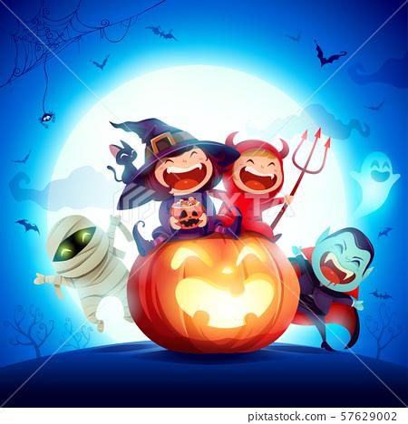 Happy Halloween! Halloween Kids Costume Party. 57629002