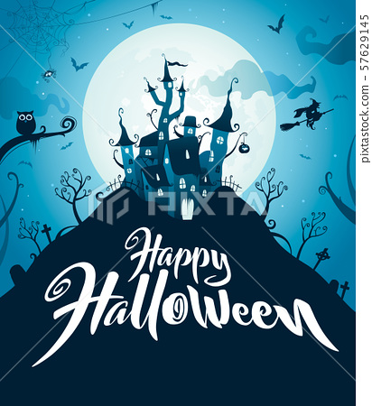 Happy Halloween. Halloween castle. 57629145