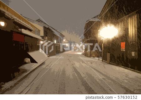 Gion Kyoto snow image 57630152