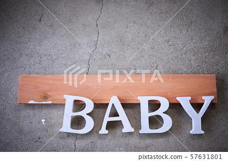 Baby alphabet handmade concrete 57631801