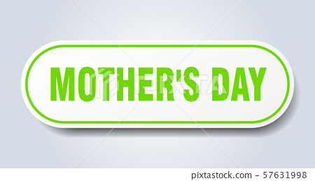 mother's day sign. mother's day rounded green 57631998