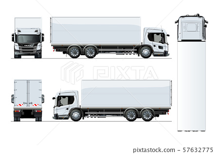 Vector truck template isolated on white background 57632775