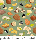 pattern with nuts. 57637041