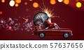 Santa Claus countdown on car 57637656