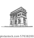 Arc de Triomphe or Triumphal Arch of the Star 57638200