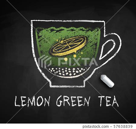 vector sketch of of lemon green sweet tea stock illustration 57638839 pixta pixta