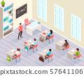 School Classroom Isometric Background 57641106