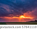 Lightning with dramatic clouds image . Night thunder-storm 57641110