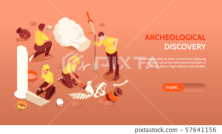 Archeological Discovery Horizontal Banner 57641156