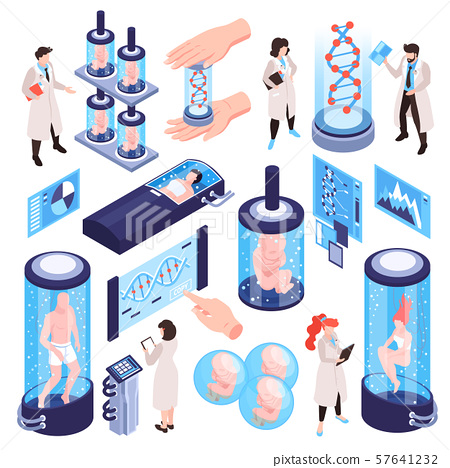 DNA Research Icon Set 57641232