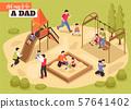 Playground Isometric Vector Illustration 57641402