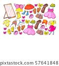 Children clothes. Background for babies, kids patterns. 57641848