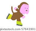 동물들의 롤러 스케이트 57643901