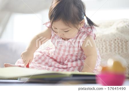아이 라이프 스타일 그림 그리기 57645490
