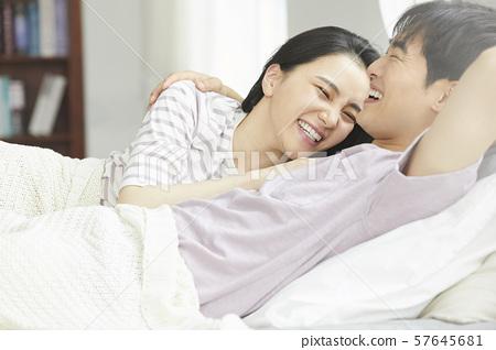 Couple lifestyle bedroom 57645681