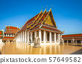 The main wihan of Wat Saket, Bangkok, Thailand 57649582