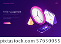 Time management isometric business concept 57650055