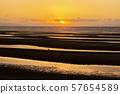 在Masutama海岸的日落 57654589