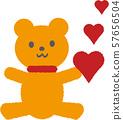 곰과 붉은 마음 57656504